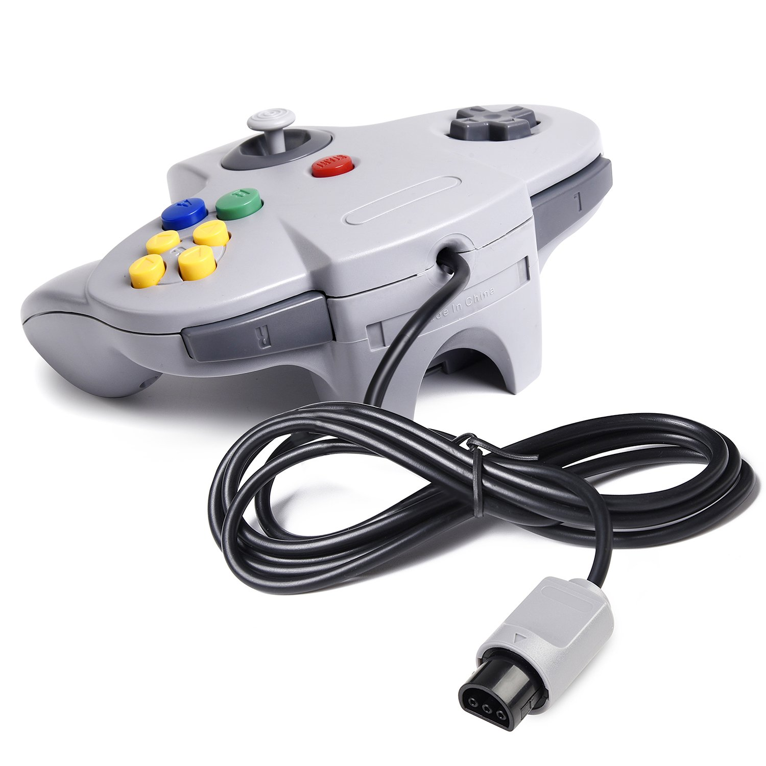 2xClassic 64 N64 Controller,kiwitata Retro Wired Gamepad Controller Joystick for N64 Console Nintendo 64 Video Games System Black+Gray by kiwitatá (Image #3)