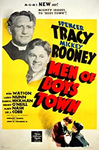 Posterazzi Men Of Boys Town Spencer Tracy Mickey Rooney 1941 Movie Masterprint Poster Print, (11 x 17)