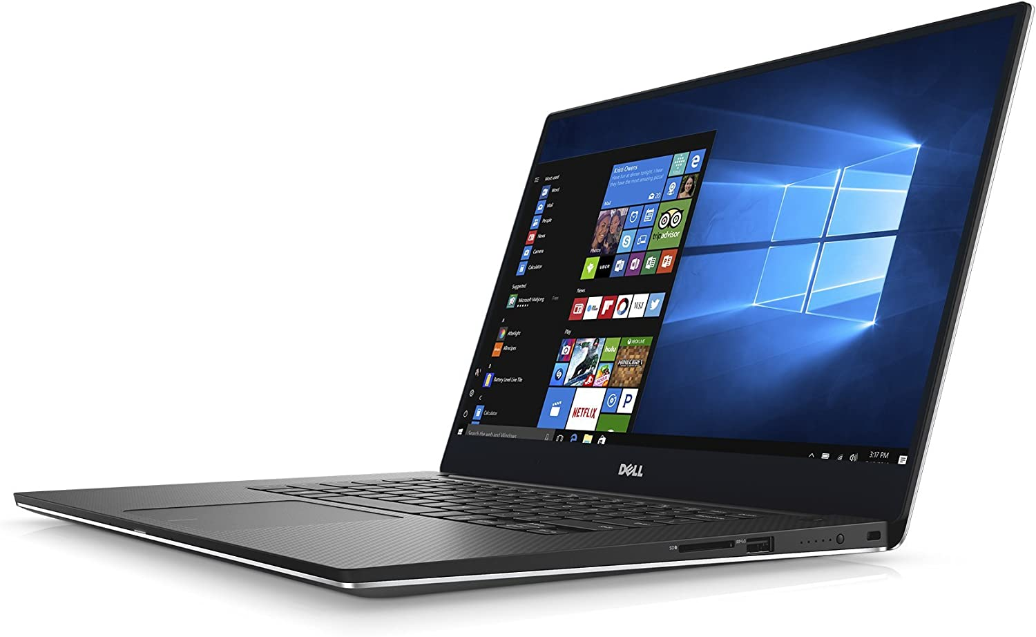 Dell XPS Thin and Light Laptop - 15 15.6in 4K Touch Display, Intel Core i7-7700HQ, 16 GB RAM, 1 TB SSD, GTX 1050, Aluminum Chassis, Silver - XPS9560-7369SLV-PUS - Gaming (Renewed)