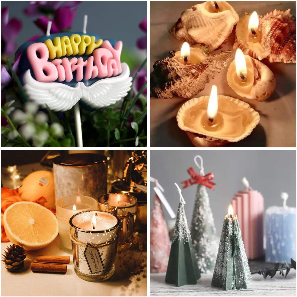 Great for DIY Candles 100PCS Wicks Sticker 1pcs Spoon Kyrieval 207pcs Candle Making Kit with 100PCS Cotton Candle Wicks 1PCS Candle Make Pouring Cup 4PCS Candle Wicks Holder