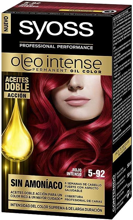 SYOSS - Oleo Intense Coloración Permanente Sin Amoníaco - Tono 5.92 Rojo Intenso - 2 uds