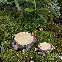 Miniatura Jardín de hadas Ornamento Resina tocón
