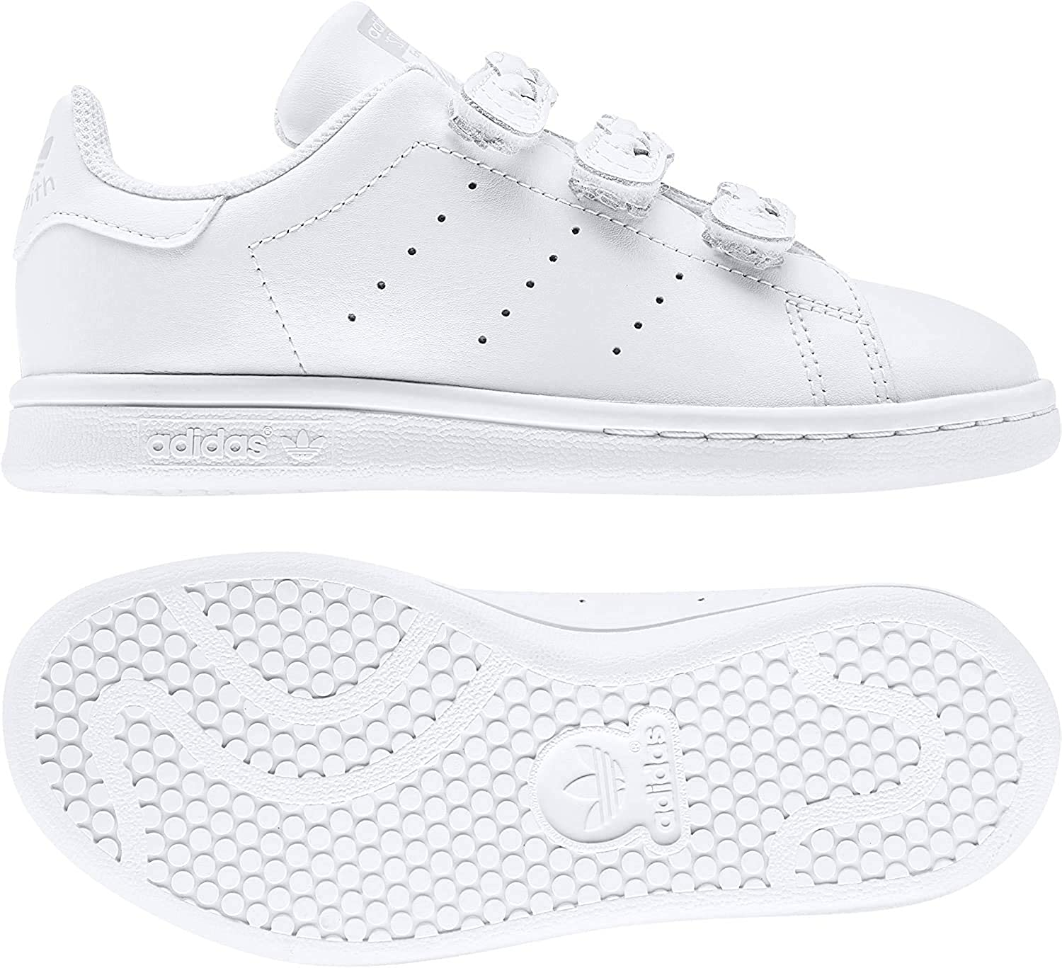 adidas Stan Smith CF C, Basket Mixte Enfant Ftwr White Ftwr White Grey One F17