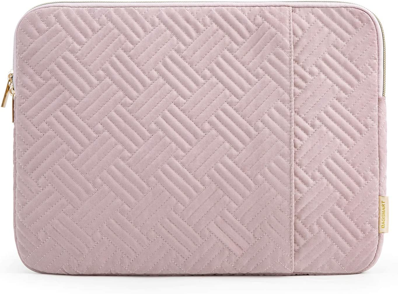BAGSMART Laptop Sleeve Bag Fits 13-13.3 inch Notebook Computer Water Repellent Protective Case Cover with Pocket, Pink