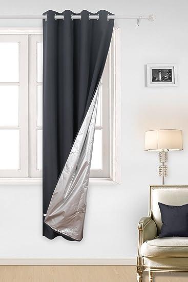 Deconovo Oxford Vorhang mit Ösen Gardinen für Schlafzimmer 240x135 ...