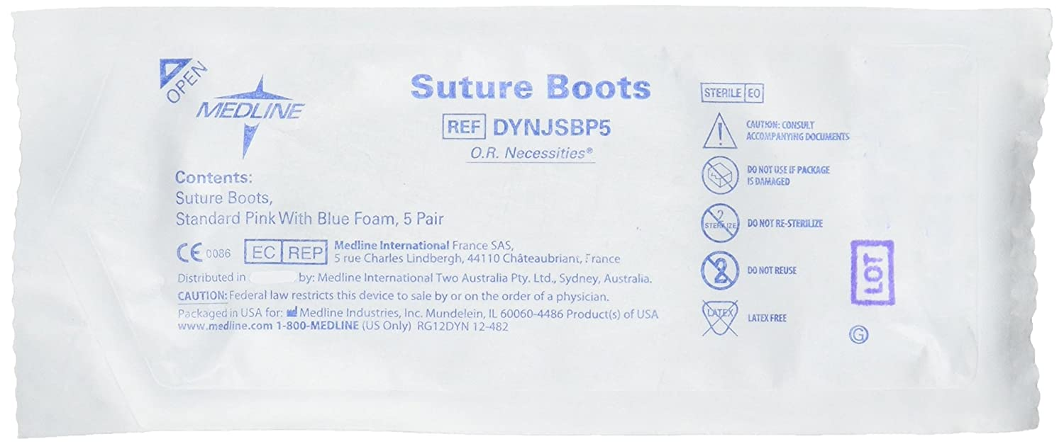 Medline DYNJSBP5 Sterile X-Ray Detectable Suture Boots