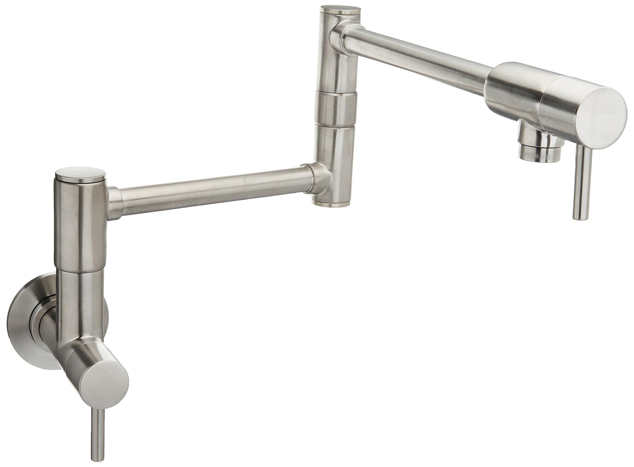 Pfister GT533-PFS Lita 2-Handle Wall Mount Pot Filler, Stainless Steel