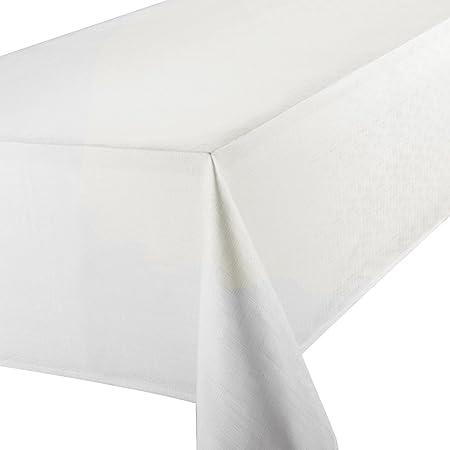 Premier 70 X 108 Inch Linen Look Oblong Tablecloth, White