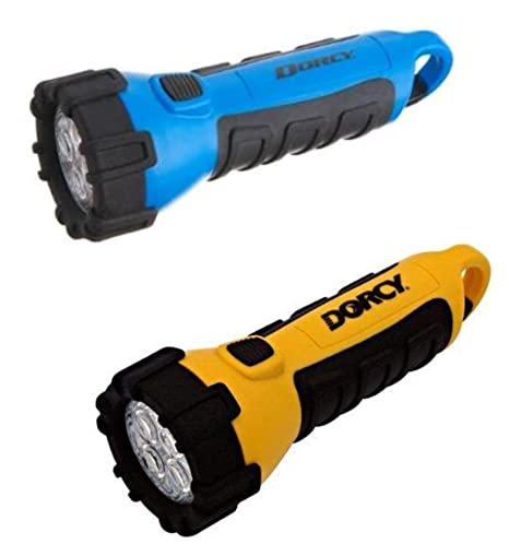with 2 Neck Straps 55-lumens Dorcy 41-2509 Floating Waterproof LED Flashlight with Carabineer Clip Pink & Neon Green 2 Pack