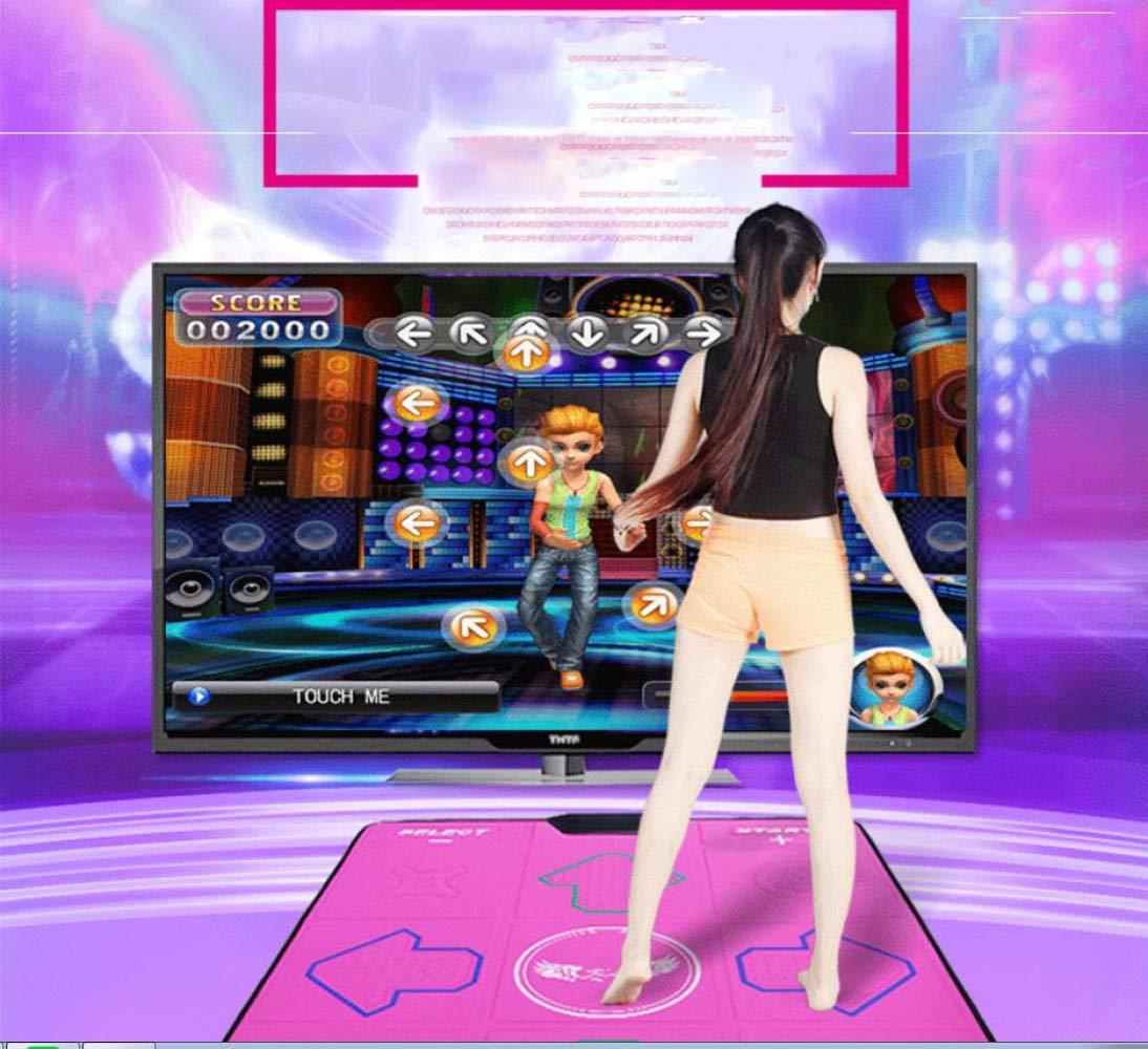 QXMEI Wireless Single Dance Mat TV Computer Dual-use Massage Slimming Dance Machine 9381CM,Pink by QXMEI (Image #5)