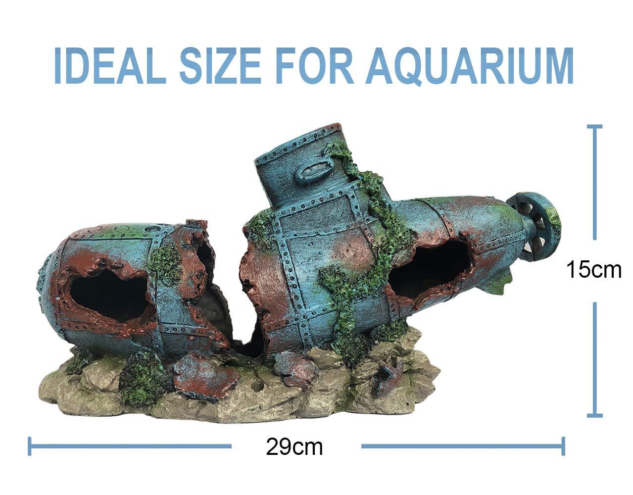 SLOME - Adornos para Acuario (Material de Resina), diseño de Barco hundido: Amazon.es: Productos para mascotas