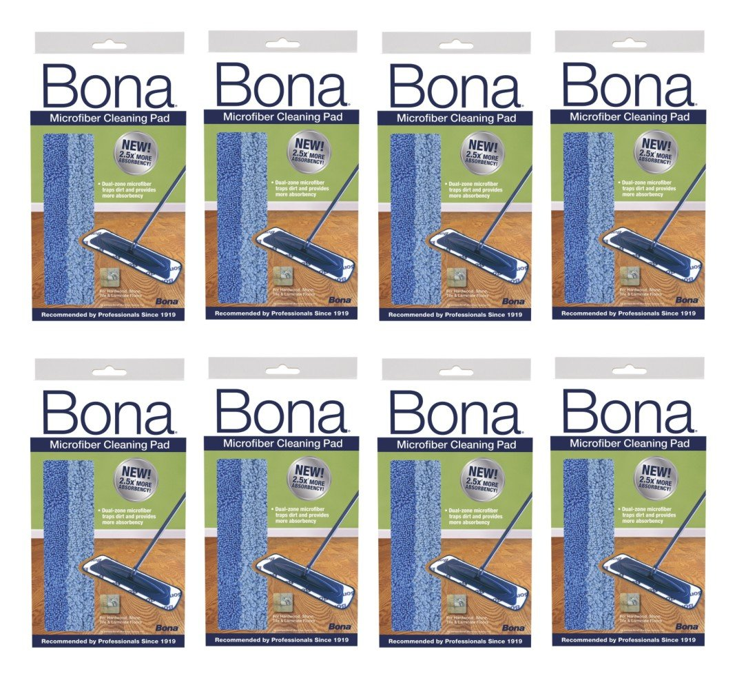 Bona Microfiber Cleaning Pad (Pack of 8)