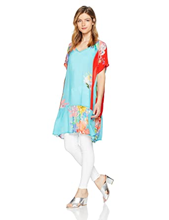 36ca19e7816 Johnny Was Women's Patterned Rayon V-Neck Tunic at Amazon Women's ...