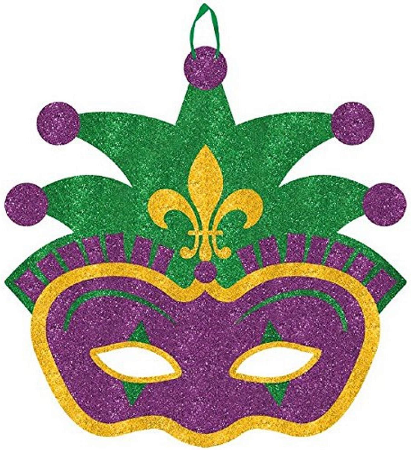 "Amscan Jester Mask, 11 1/2"" x 11 1/2"", Multicolor"
