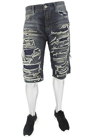 a09537bb49 Jordan Craig Shredded Denim Shorts at Amazon Men's Clothing store:
