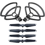 ZEEY 4pcs Quick Release Lightweight Propellers for DJI Spark Drone + 4pcs Lightweight Propeller Protector Guard