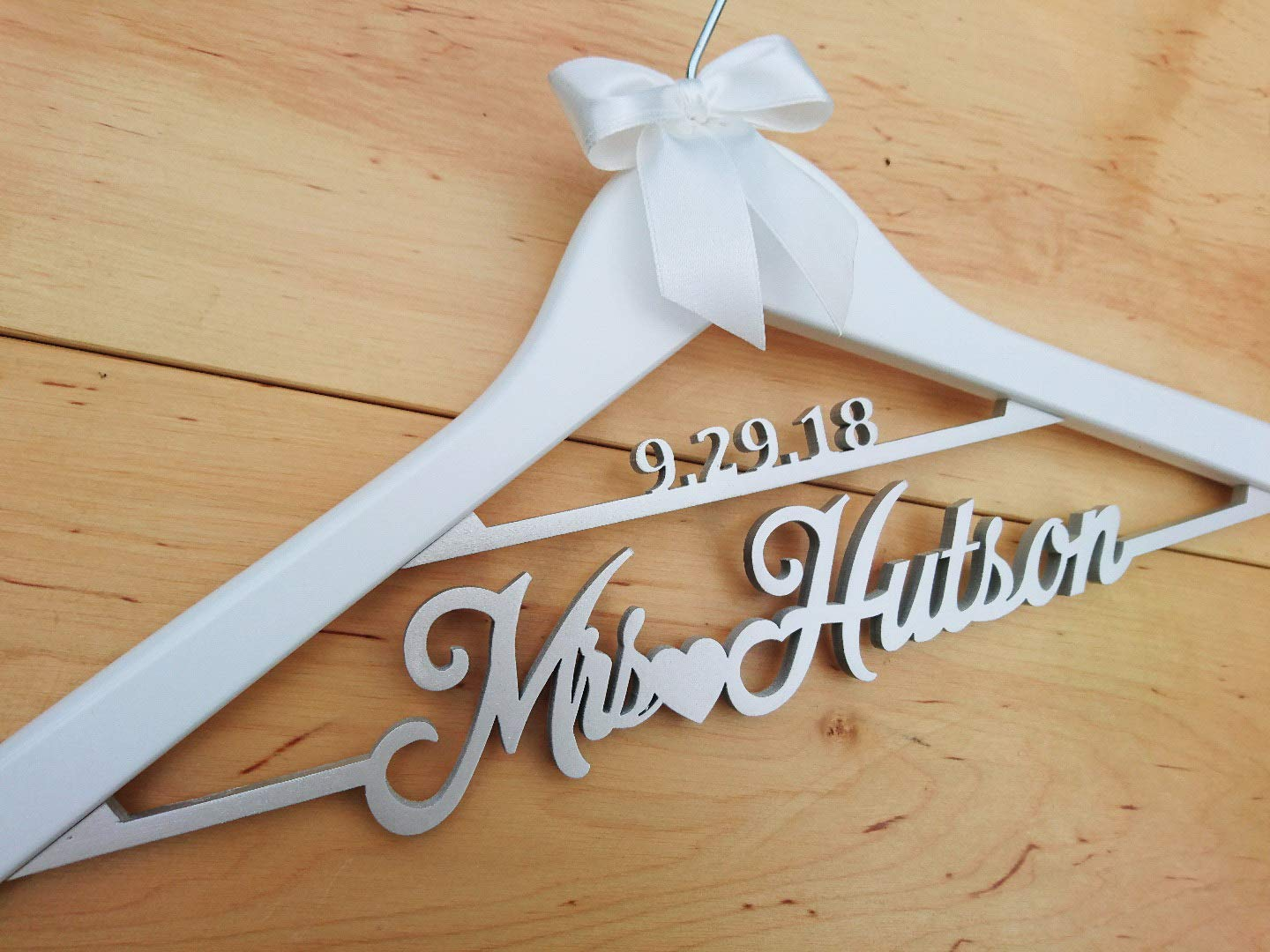 Wedding Hanger, Bridal Hanger, Mrs Hanger, Bride Hanger, Wedding Dress  Hanger, Bridesmaid Hanger Personalized, bridal Gift, mrs hanger