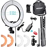 """Neewer RL-12 LED Ring Light 14"""" outer/12 on Center with Light Stand, Soft Tube, Filter, Carrying Bag for Makeup, YouTube,TikT"""