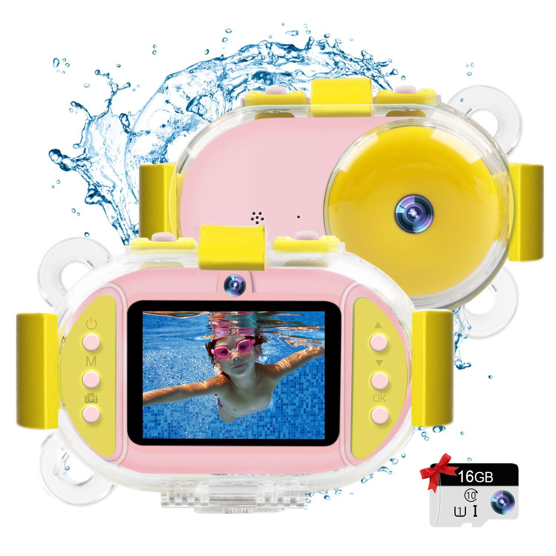 Kids Camera Underwater Digital Camera,HD 1080P IP68 Waterproof Toddler Camera Video Recorder Action Camcorder,8X Digital Zoom,2.4 inch IPS Display with 16G Memory Card & Waterproof Case by LeaderPro (Image #1)