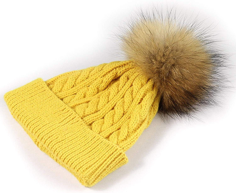 Noon-Sunshine/&cap Childrens Knit Beanie Hat pom pom Winter Hat Boy Girl Warm Skullies Bone,