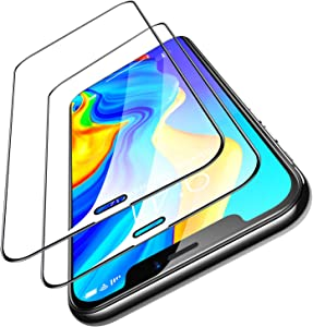 TORRAS Diamonds Hard Designed for Apple iPhone 11 Screen Protector iPhone XR Screen Protector [10X Military Grade Shockproof] [10s Easy Installation][Eye Protection] Tempered Glass Film 6.1''-2 Pack