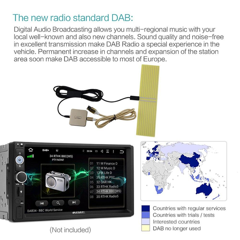 Seulement pour Les Pays Qui Ont Un Signal Dab Docooler Dab 004 Dab Box Tuner Radio num/érique antenne FM Transmission USB aliment/é pour autoradio Android 5.1 et ci-Dessus