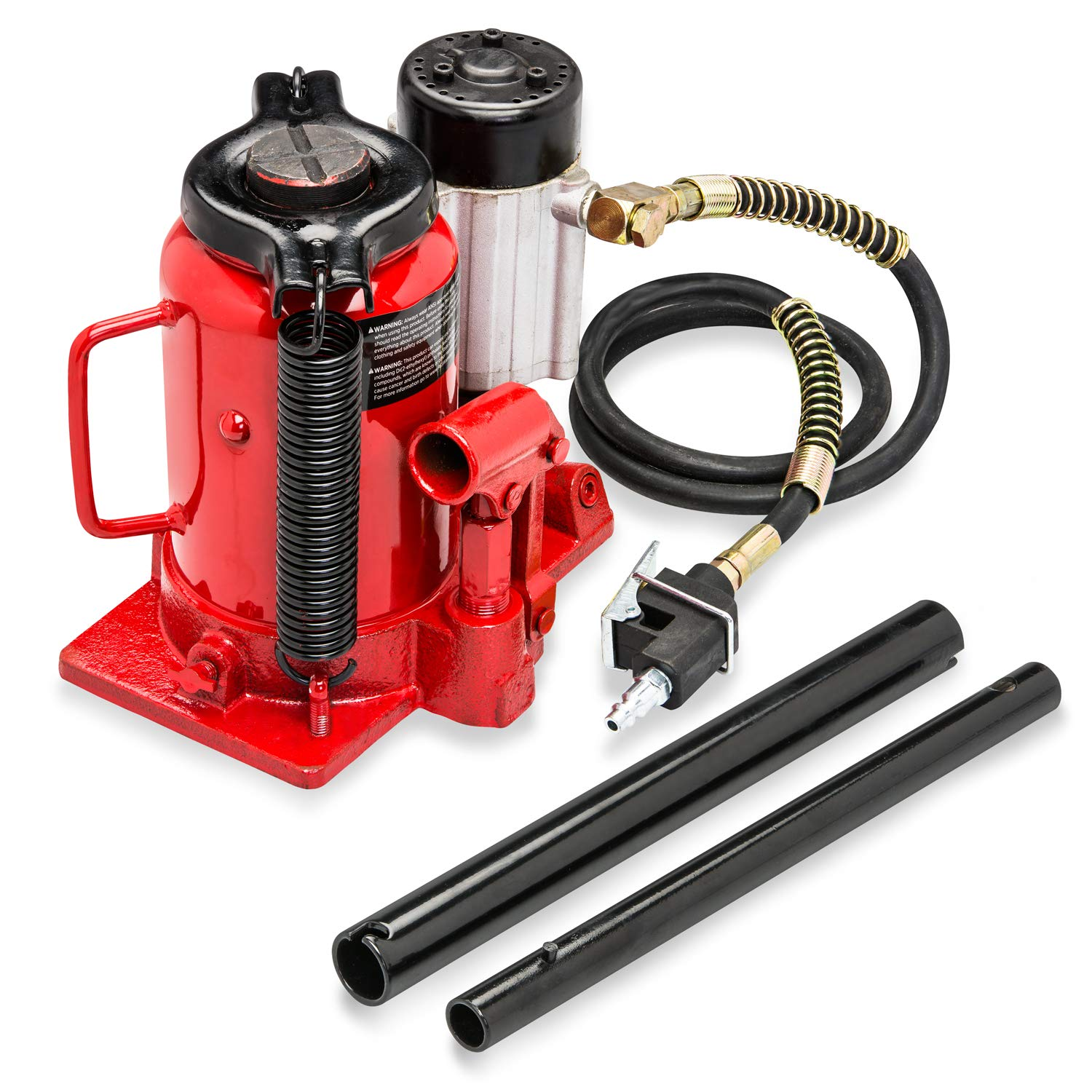 20 Tons Tooluxe 31010L Low Profile Air Hydraulic Manual Bottle Jack