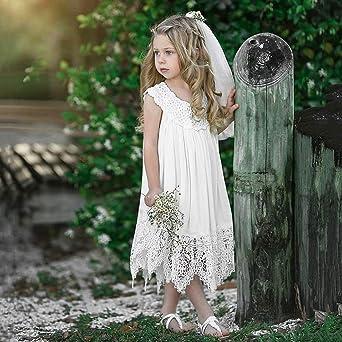 kaiCran Fashion Girls Dress Fur Bowknot Sleeveless Formal Party Wedding Beautiful Sundress