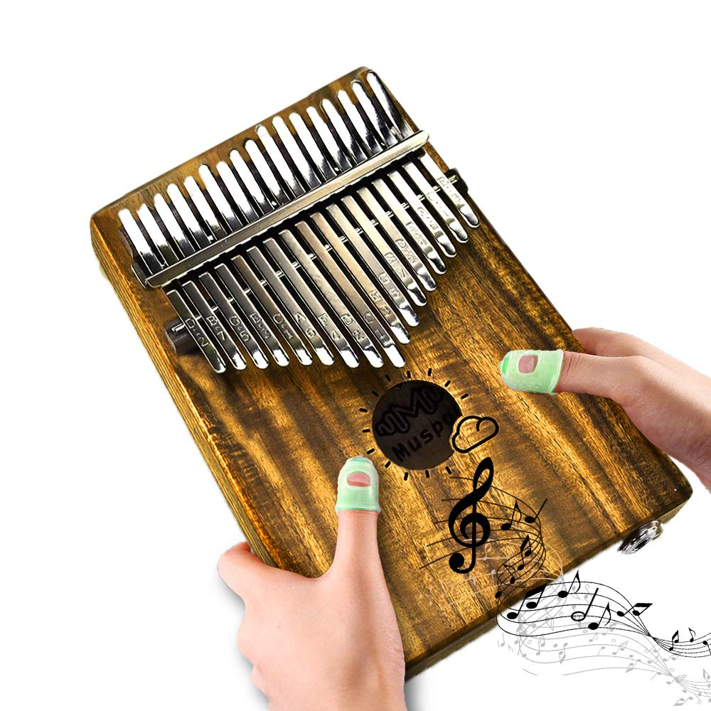 Kalimba 17 Keys Thumb Piano Mbira Solid Mahogany Wood Pocket Size Portable Thumb Piano with Calibrating Tune Hammer and Cloth Bag for Music Lovers Beginners and Child RoseJacky