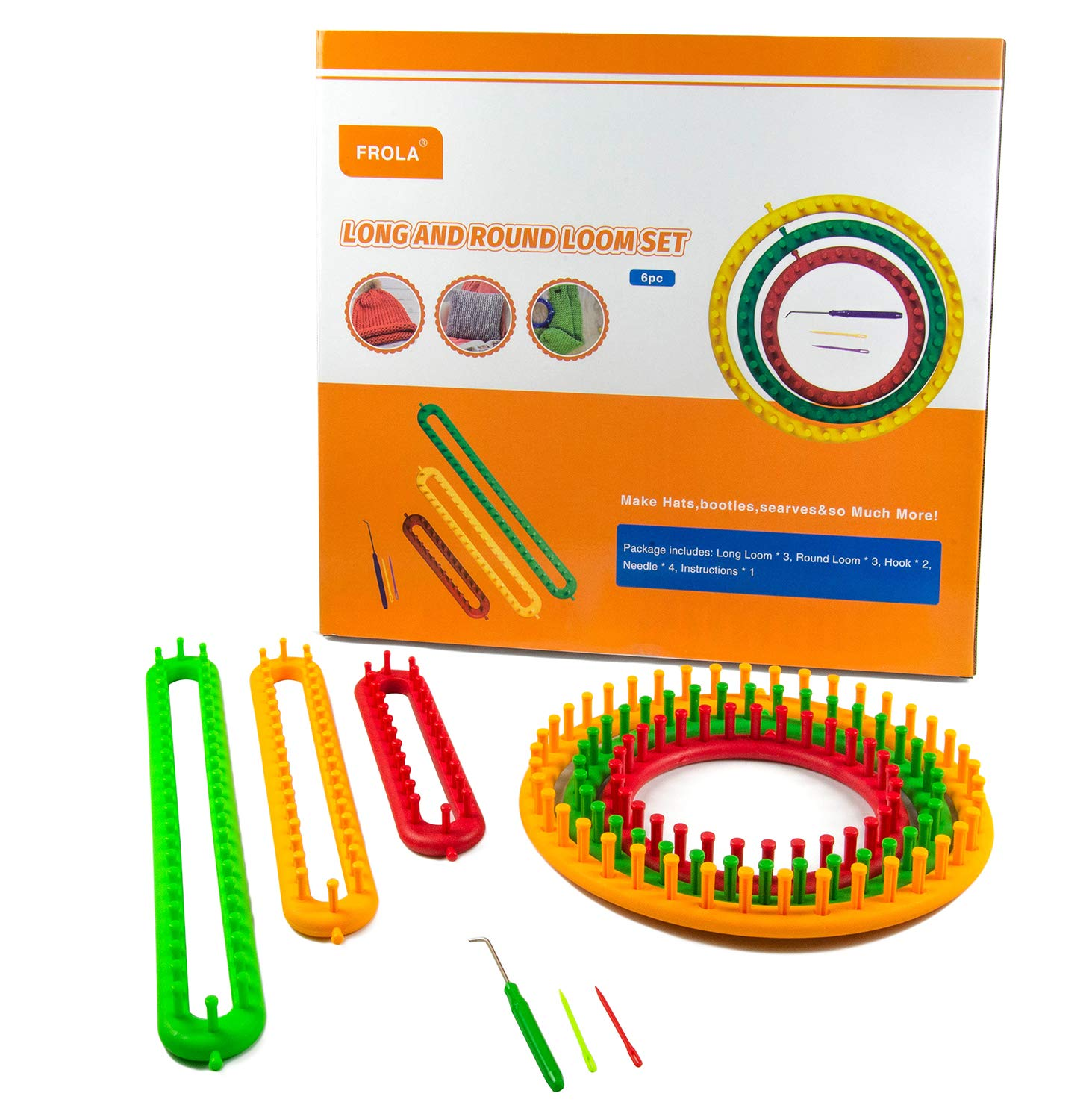 Long Loom and Round Loom DIY Kit by Frola