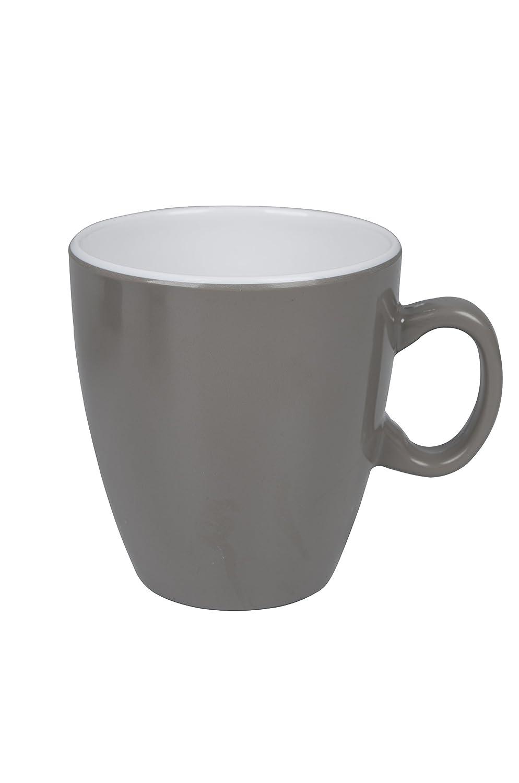 Bo-Camp Unisex's BC Melamine Taupe Mug, White 6181243