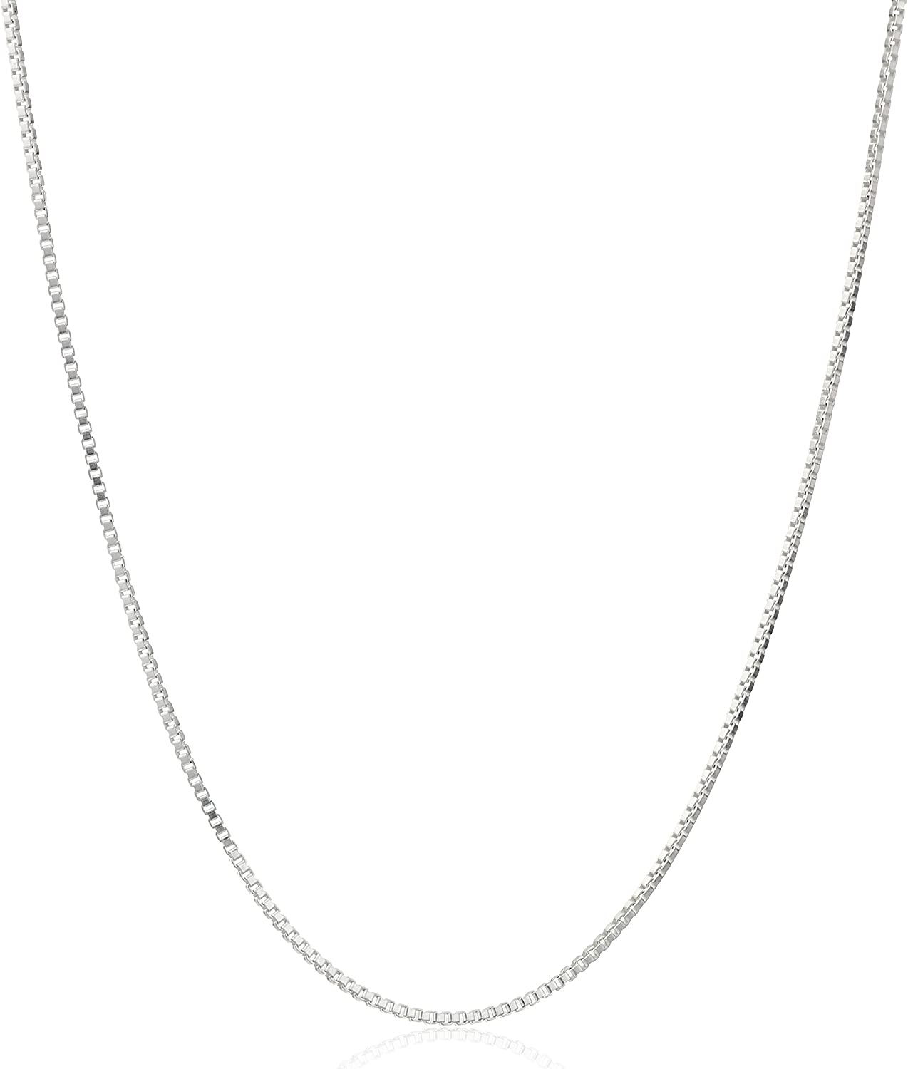 """Honolulu Jewelry Company Sterling Silver 1mm Box Chain Necklace, 14"""" - 36"""""""