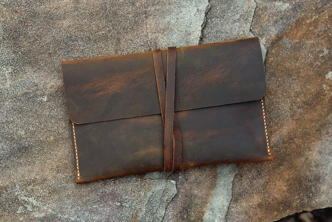 Distressed leather Kindle Paperwhite case cover/Simple retro brown leather Kindle Voyage cover case KDX05S-S