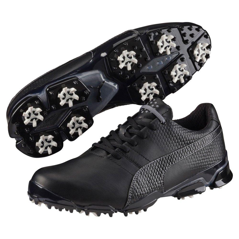 PUMA Men's Titantour Ignite Golf Shoe, Black/Steel Gray, 9 M US
