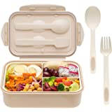 Bento Box for Adults and Kids - 1400ML Bento Box With Spoon & Fork - Durable, Leak-Proof for On-the-Go Meal, BPA-Free…