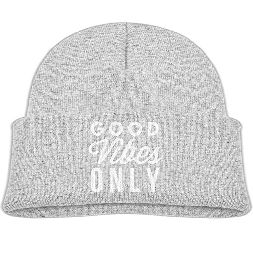df56a984309 Amazon.com  Knit Hat Good Vibes Only 9 Baby Beanies Caps Unisex Winter  Warm  Clothing