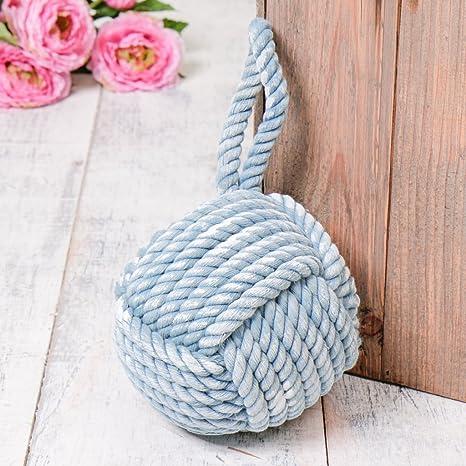 Decorativo azul yute Cuerda Estilo Náutico tope para puertas – Heavy 2 kg – tope de