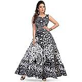 Afreet Fashion Women's Long Midi Dress Jaipuri animal Print Cotton Maxi Dress(Multicolor, Up to XXL,Free Size)