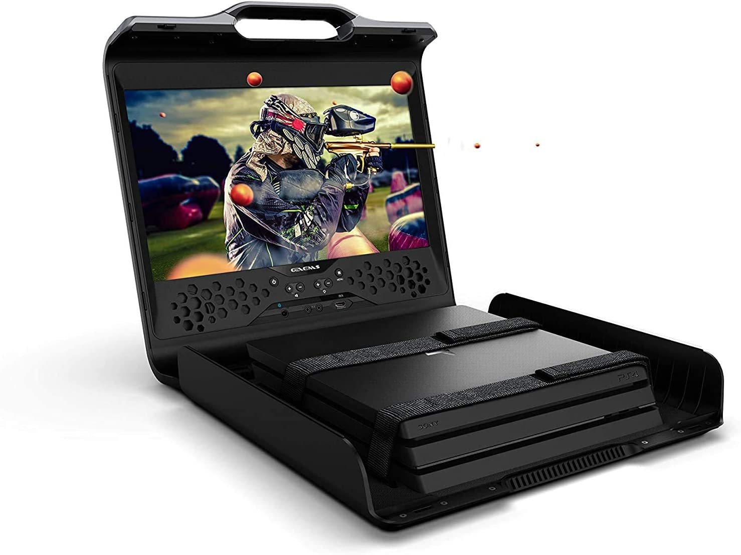GAEMS Sentinel Pro XP 1080P Portable Gaming Monitor | Compatible with Xbox One X, Xbox One S, PlayStation 4 Pro, PlayStation 4, PS4 Slim (Consoles Not Included) (PS4/) [Importación inglesa]