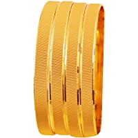 Touchstone Golden Bangle Collection Indian Bollywood Desire Brass Base Artistic Indian Knitted Mat Work Designer Jewelry…
