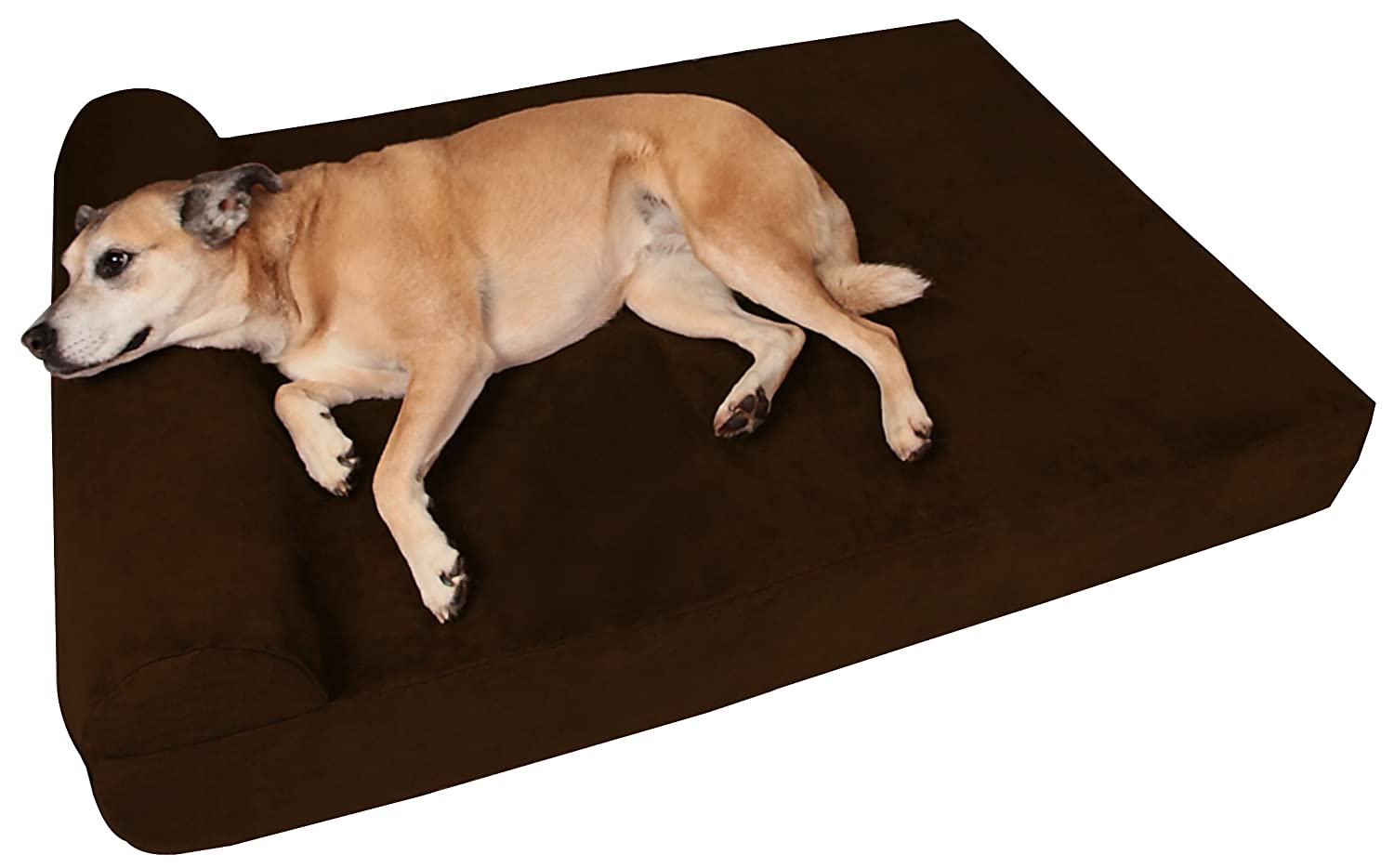 amazoncom big barker 7inch pillow top orthopedic large 48 x 30 x 7inch bed for dogs chocolate pet beds pet supplies - Dog Beds For Large Dogs
