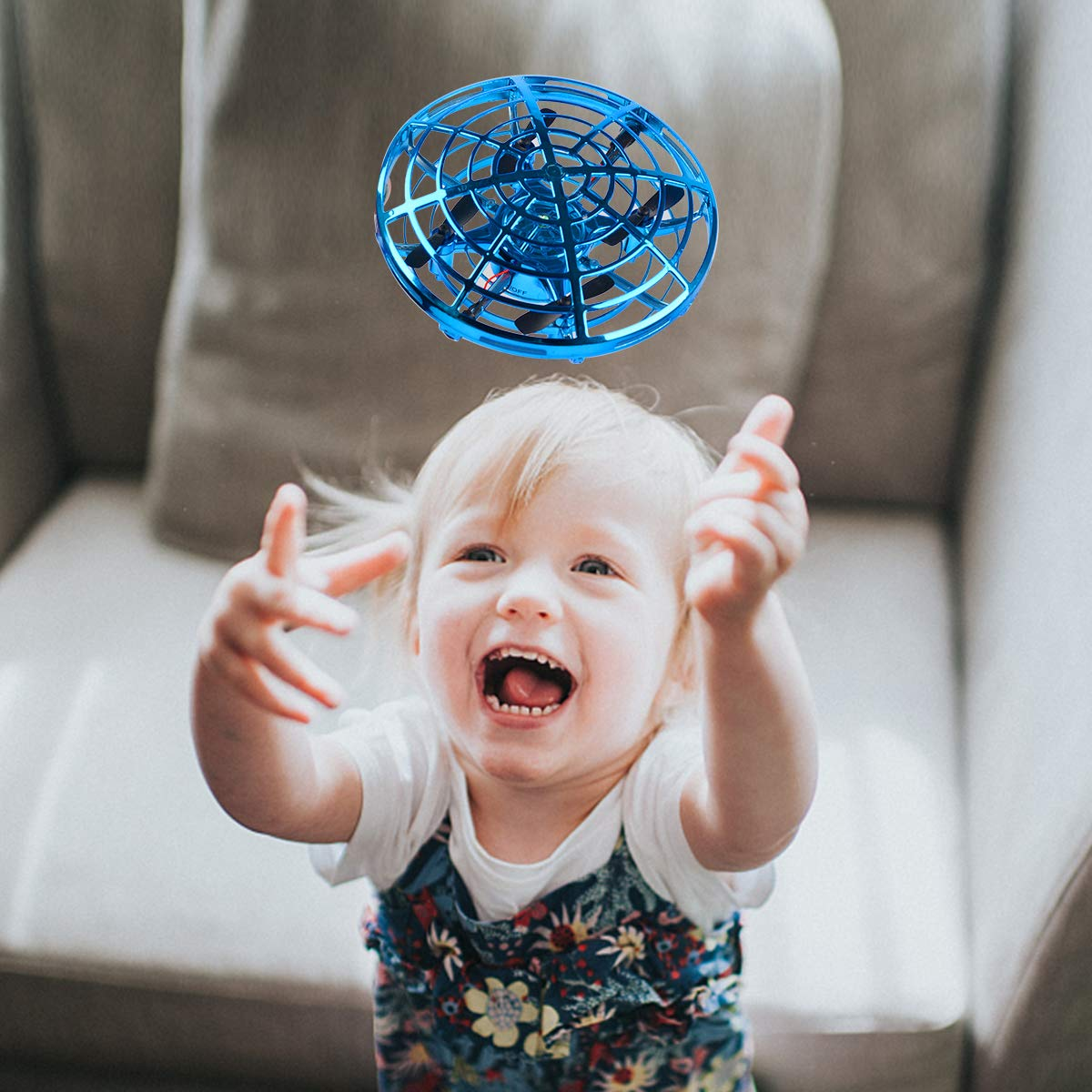 Oucles Mini Drones for Kids and Adults Ball with 360° Rotating and Shinning LED Lights, Flying Toy for Boys Girls and Kids Gifts by Oucles (Image #7)