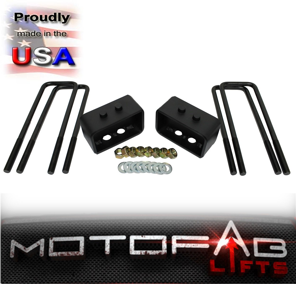 MotoFab Lifts F150-3F-2R 3 Front and 2 Rear Leveling lift kit for 2004-2014 Ford F150