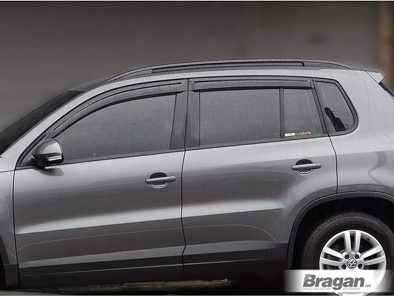 Fitting Kit Bragan BRAH41078 SUV 4x4 Tinted Window Deflectors Sun Rain Wind Protector Smoked Acrylic