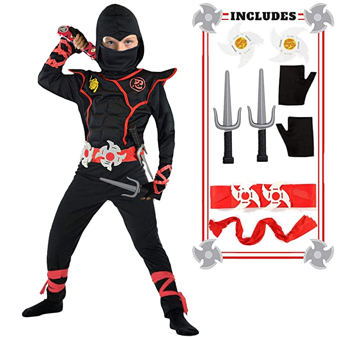 Ninja Costume for Boys Halloween Kids Costumes Boy Ninja Muscle Costumes Best Kids Gifts