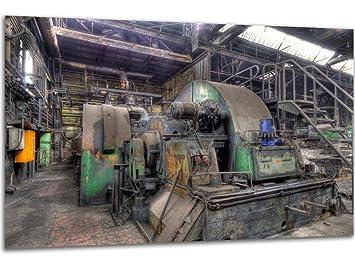 Dampfmaschine   Wandbild Stahlwerk Maxhütte, Exklusiver Druck Auf Leinwand,  Alu Dibond Oder Acrylglas
