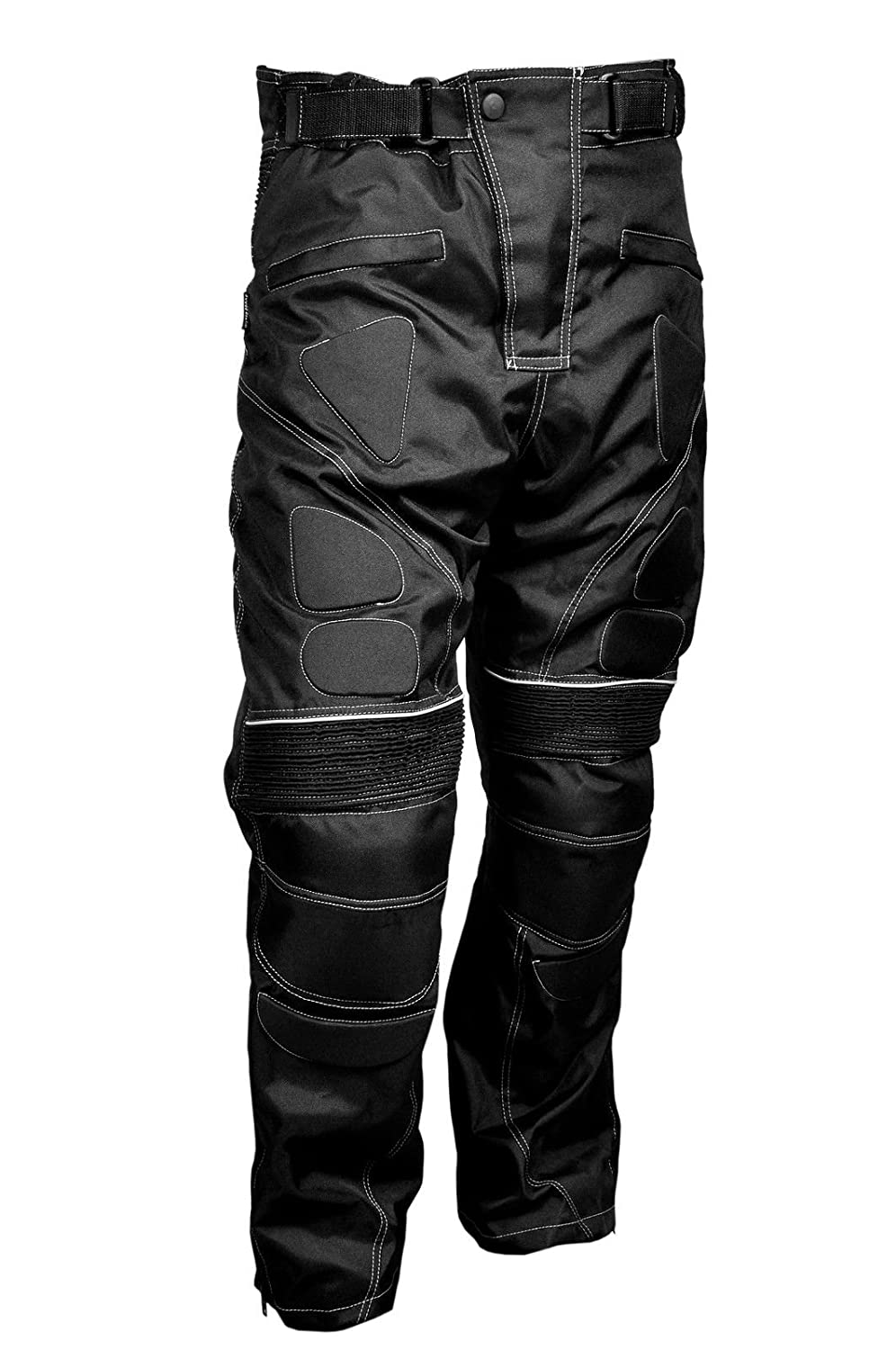 Sterling Sports/®Men Textile Waterproof Motorbike Motorcycle Thermal Armoured Trouser Cargo Pant Black Cameo Grey Green Cameo Green, 34Wx34L