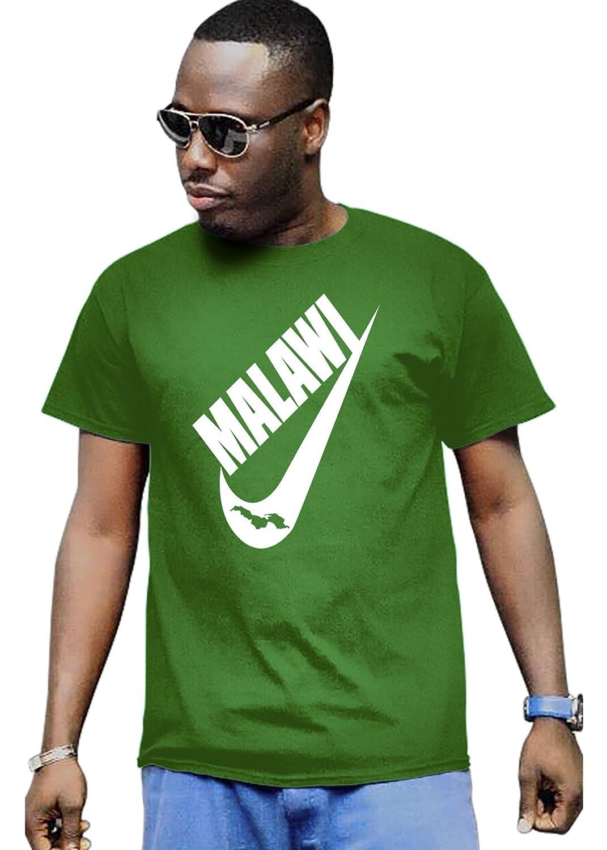 Cali Dreamers Men's I love Malawi flag map Africa map t-shirt green