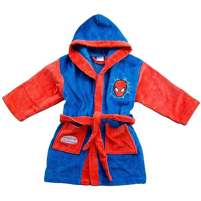 Accappatoio in spugna bimbo con cappuccio Marvel Spiderman *05514:  Amazon.it: Abbigliamento