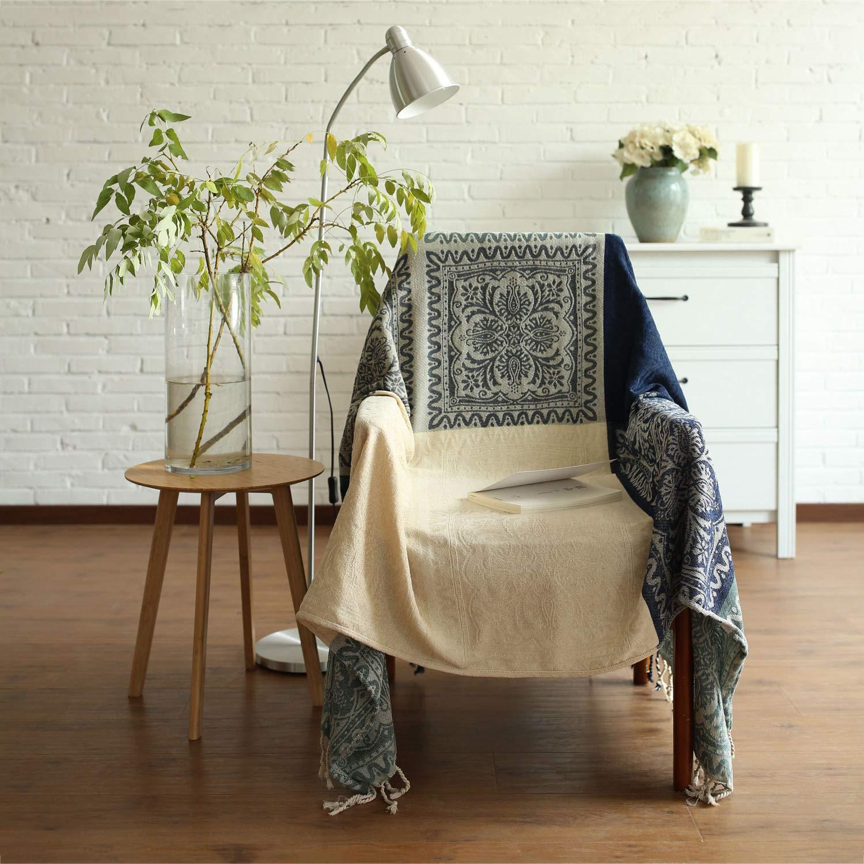 シェニールタッセルジャカードソファは、毛布のアームチェアカバーテーブルクロスのタペストリー装飾的なピクニック毛布レトロソフトを投げる 220*250  B07GX5F21D